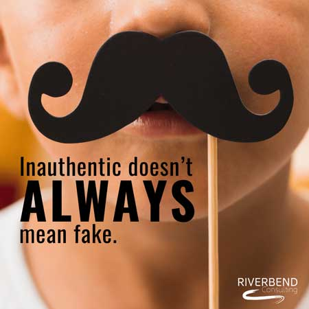 Inauthentic doesn't ALWAYS mean fake