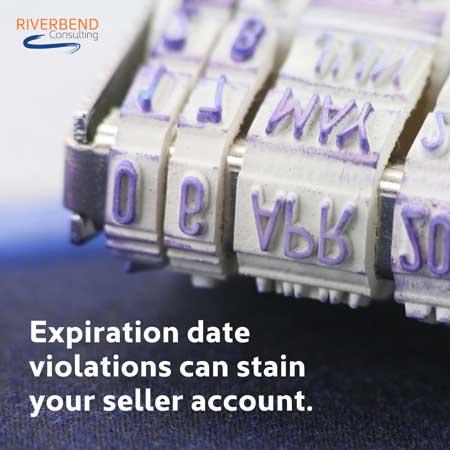Expiration date staining Amazon account